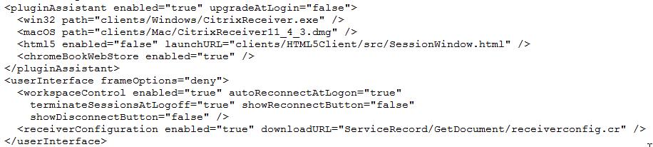 Self Service Plugin / StoreFront / Merchandising Server / Citrix