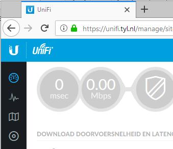 Ubiquiti Unifi Controller SSL Certificate creation process - 0 Mbps